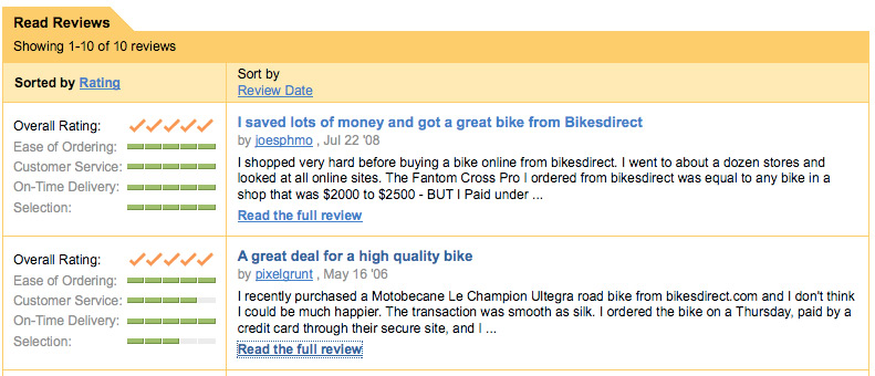 Bikesdirect Reviews Here for Reviews