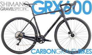 Shimano Gravel Specific GRX600 1X11Spd, WTB Tubeless Compatible Rims Whipshot CF RX600